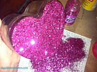 excess glitter